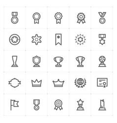 mini icon set - award icon vector image vector image