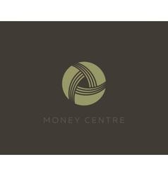 Money symbol Wealth sign Financial logo design vector image vector image