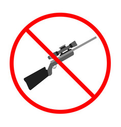 no gun sign and symbol weapon prohibited icon vector image