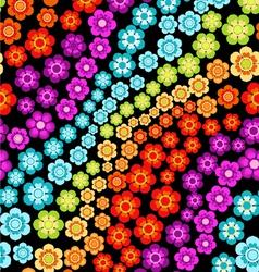 rainbow flowers vector image vector image