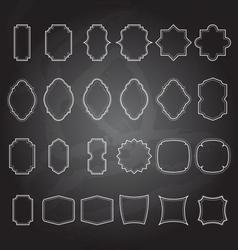 set of vintage frames background vector image vector image