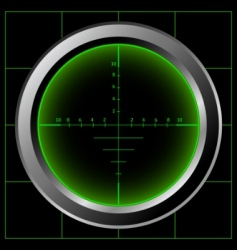 sniper scope vector image vector image