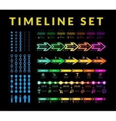 Timeline infographic set vector image vector image