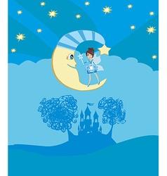 fairy on moon vector image