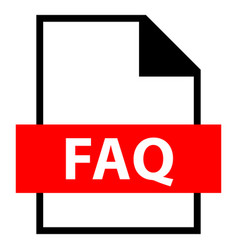file name extension faq type vector image vector image