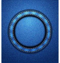 Jeans circular patch vector