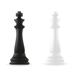 king chess piece black and white vector image vector image