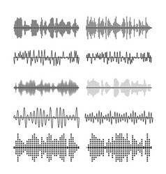 Sound wave forms soundtrack vector