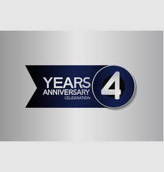 4 years anniversary logo style with circle vector