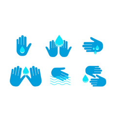 A drop in palms your hands vector