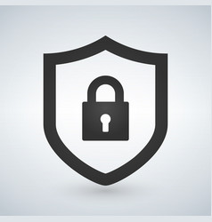 abstract security icon isolated on black vector image