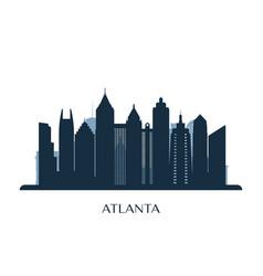 Atlanta skyline monochrome silhouette vector