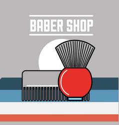 Baber shop design vector