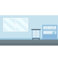 Background of doctor office vector