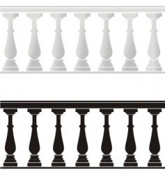 balustrade vector image