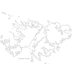 Falkland Islands Black White Map Royalty Free Vector Image