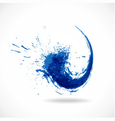 Blue ink splash logo abstract colorful water wave vector