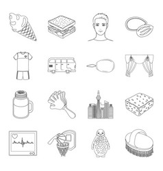 bristle maintenance medicine and other web icon vector image
