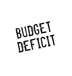 Budget Deficit rubber stamp vector