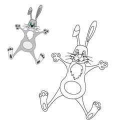 Bunny coloring vector image