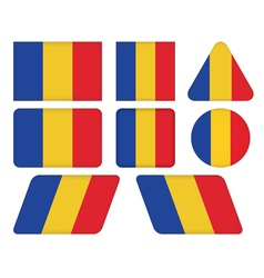 buttons with flag of Romania vector image