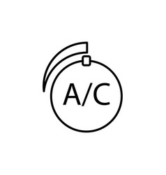 car air conditioner control icon vector image