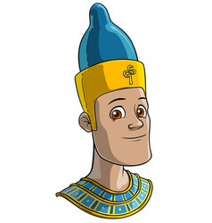 Cartoon egyptian man in traditional clothes vector