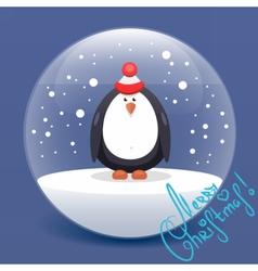 christmas flat Penguin vector image