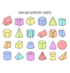 Colorful 3d geometry shapes vector