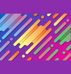 colorful abstract composition with diagonal lines vector image