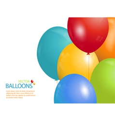 Colourful balloon background landscape vector