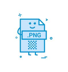 Computer png file format type icon design vector
