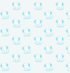 cute elephant pattern background vector image