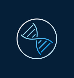 dna in circle concept colored linear icon vector image