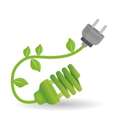 eco plug design vector image