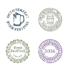 Emblem oktoberfest set vector