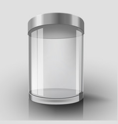 Empty glass cylinder vector