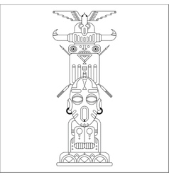 ethnic totem pole vector image