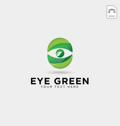 eye green eco watch logo template icon element vector image