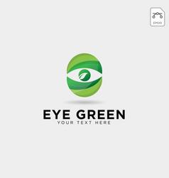 Eye green eco watch logo template icon element vector