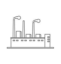 factory icon line vector image