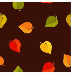 fall colored leaves seamless background vector image vector image
