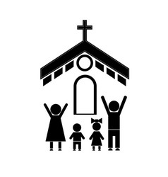 Family and church vector