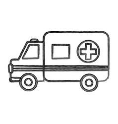 figure ambulance emergency care life vector image