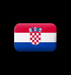 Flag of croatia matted icon and button vector