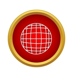 Globe icon in simple style vector image