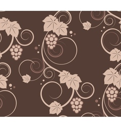 Grape vines seamless background vector