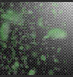 green flower petals falling down beautiful romant vector image