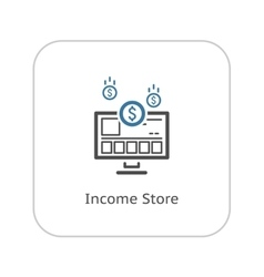 Income Store Icon Business Concept vector image