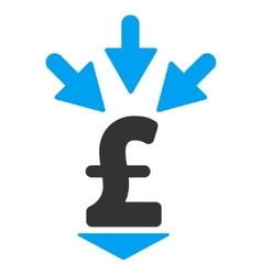 Integrate pound payment flat icon symbol vector